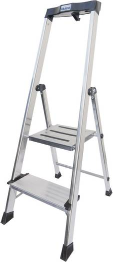 Krause Safety 127921 Aluminium Stufen-Stehleiter Arbeitshöhe (max.): 2.85 m Silber 5.5 kg