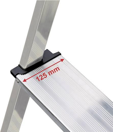 Krause 127204 Aluminium Stufen-Stehleiter Arbeitshöhe (max.): 2.40 m Silber 3 kg