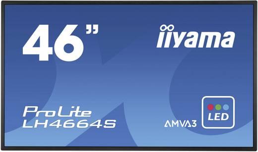 Large Format Display 46 Zoll Iiyama LH4664S-B1 EEK: B 1920 x 1080 Pixel 18/7 Lautsprecher integriert, Portrait Modus