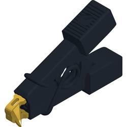 Měřicí krokosvorka Hirschmann Micro-SMD Clip, černá