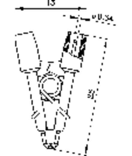Krokodilklemme Steckanschluss 0.64 mm CAT I Schwarz SKS Hirschmann MICRO-SMD CLIP 1