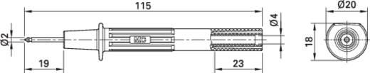 Sicherheits-Prüfspitze Steckanschluss 4 mm CAT II 1000 V Schwarz MultiContact PP115/2 SCHWARZ