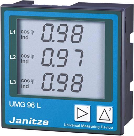 Janitza UMG 96L Vierleiter Universal-Messgerät Spannung: L-N 50 bis 255 V/AC, L-L 86 bis 442 V/AC,45 bis 65 Hz · Strom: 0 - 5 A/0 - 1 A Einbaumaße DIN 92 mm x 92 mm