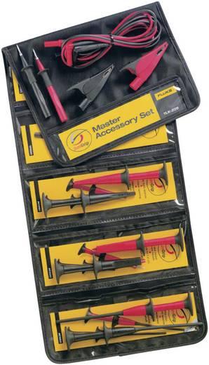 Sicherheits-Messleitungs-Set [Lamellenstecker 4 mm - Lamellenstecker 4 mm] 1.5 m Schwarz, Rot Fluke TLK-225-1