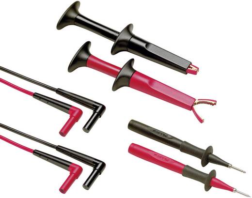 Sicherheits-Messleitungs-Set [ Lamellenstecker 4 mm - Lamellenstecker 4 mm] 1.5 m Schwarz, Rot Fluke TL220-1