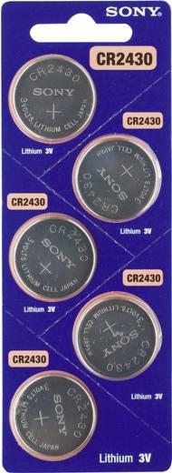 Knopfzelle CR 2430 Lithium Sony CR 2430 300 mAh 3 V 5 St.