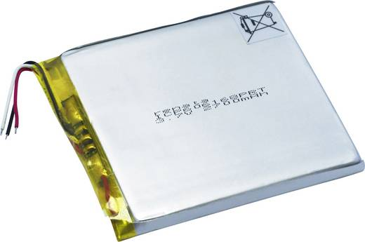 Spezial-Akku Prismatisch Kabel LiPo Renata ICP606168PRT 3.7 V 2800 mAh