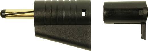 Cliff FCR149850 Laborstecker Stecker, gerade Stift-Ø: 4 mm Schwarz 1 St.