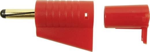 Cliff FCR149855 Laborstecker Stecker, gerade Stift-Ø: 4 mm Rot 1 St.