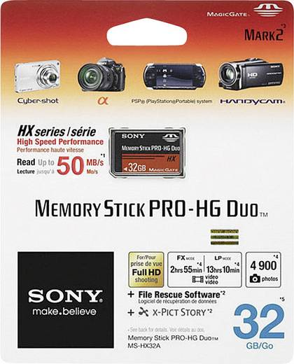 MemoryStick® PRO Duo-Karte 32 GB Sony Pro-HG Duo HX