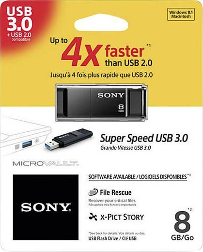 USB-Stick 8 GB Sony Micro Vault X-Serie Schwarz USM8GXB USB 3.0