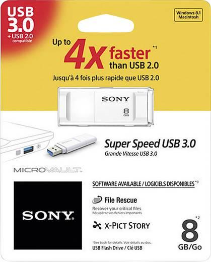 USB-Stick 8 GB Sony Micro Vault X-Serie Weiß USM8GXW USB 3.0