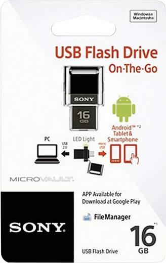 USB-Zusatzspeicher Smartphone/Tablet Sony OTG Schwarz 16 GB USB 2.0, Micro USB