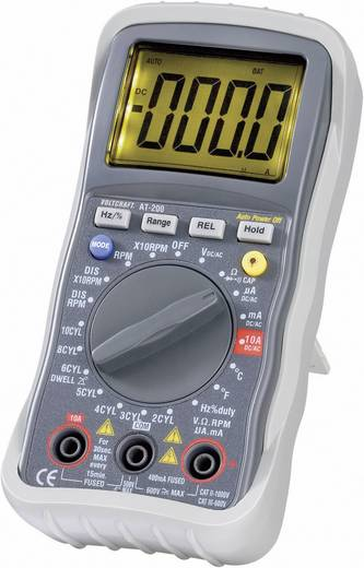 Hand-Multimeter digital VOLTCRAFT AT-200 Kalibriert nach: Werksstandard KFZ-Messfunktion CAT III 600 V Anzeige (Counts): 4000