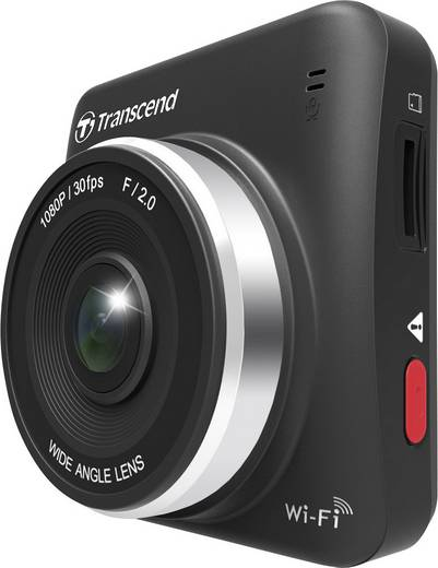 Transcend DrivePro 200 Dashcam Blickwinkel horizontal max.=160 ° 12 V, 24 V Mikrofon, Display