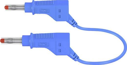 Sicherheits-Messleitung [ Lamellenstecker 4 mm - Lamellenstecker 4 mm] 1 m Blau MultiContact XZG410 100 CM BLAU