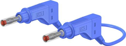 Sicherheits-Messleitung [ Lamellenstecker 4 mm - Lamellenstecker 4 mm] 2 m Blau Stäubli XZG410 200 CM BLAU