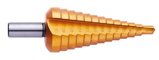 HSS Stufenbohrer-Set 3teilig 4 - 12 mm, 4 - 20 mm, 6 - 30 mm TiN Exact 05350 3-Flächenschaft 1 Set