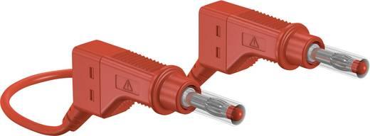 Sicherheits-Messleitung [ Lamellenstecker 4 mm - Lamellenstecker 4 mm] 1 m Rot Stäubli XZG425-E 100 CM ROT