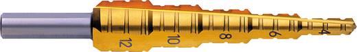 HSS Fräs-Stufenbohrer 4 - 12 mm TiN Exact 05377 Gesamtlänge 80 mm 3-Flächenschaft 1 St.
