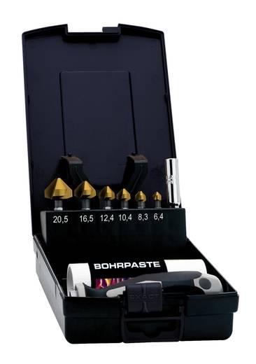 "Kegelsenker-Set 9teilig 6.3 mm, 8.3 mm, 10.4 mm, 12.4 mm, 16.5 mm, 20.5 mm HSS TiN Exact 05639 1/4"" (6.3 mm) 1 Set"