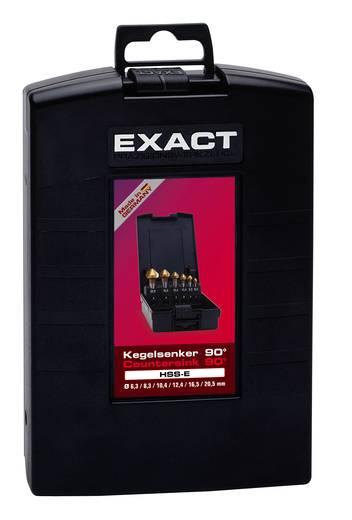 Kegelsenker-Set 6teilig 6.3 mm, 8.3 mm, 10.4 mm, 12.4 mm, 16.5 mm, 20.5 mm HSS-E Exact 05727 Zylinderschaft 1 Set