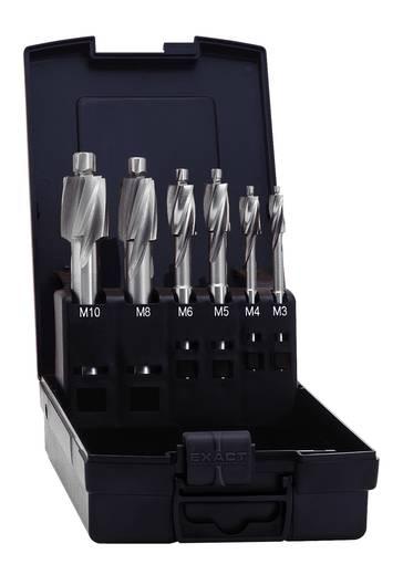 Flachsenker 6teilig 2.5 mm, 3.3 mm, 4.2 mm, 5 mm, 6.8 mm, 8.5 mm HSS Exact 05863 Zylinderschaft 1 Set