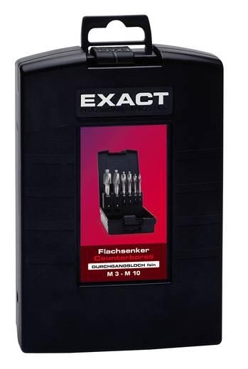 Flachsenker 6teilig 2.5 mm, 3.3 mm, 4.2 mm, 5 mm, 6.8 mm, 8.5 mm HSS Exact 05862 Zylinderschaft 1 Set