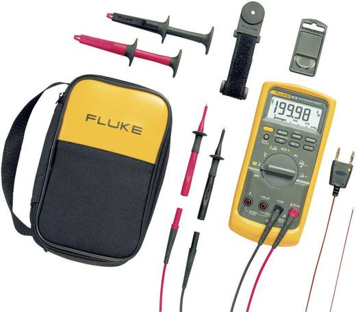 Hand-Multimeter digital Fluke 87V/E2 Kit Kalibriert nach: Werksstandard CAT III 1000 V, CAT IV 600 V Anzeige (Counts): 20000