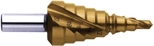 HSS Stufenbohrer-Set 6 - 30 mm, 4 - 20 mm, 4 - 12 mm TiN Exact 07034 3-Flächenschaft 1 St.