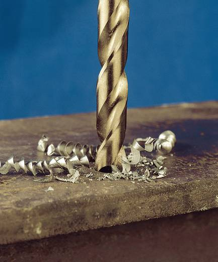 HSS Metall-Spiralbohrer 6.1 mm Exact 32369 Gesamtlänge 101 mm geschliffen, Cobalt DIN 338 Zylinderschaft 10 St.