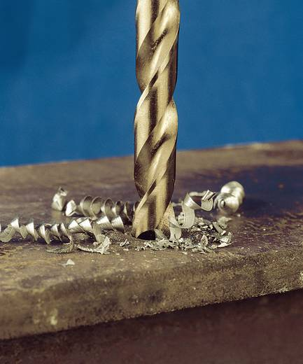 HSS Metall-Spiralbohrer 8.5 mm Exact 32398 Gesamtlänge 117 mm geschliffen, Cobalt DIN 338 Zylinderschaft 10 St.