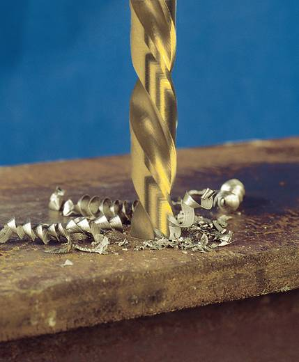 Exact 32554 HSS Metall-Spiralbohrer 4.8 mm Gesamtlänge 86 mm geschliffen, TiN DIN 338 Zylinderschaft 10 St.
