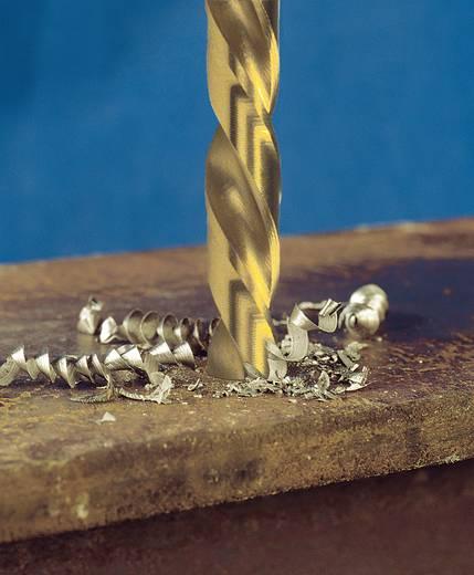 Exact 32647 HSS Metall-Spiralbohrer 13.5 mm Gesamtlänge 160 mm geschliffen, TiN DIN 338 Zylinderschaft 5 St.