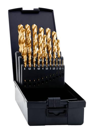 HSS Metall-Spiralbohrer-Set 25teilig Exact 32692 geschliffen, TiN DIN 338 Zylinderschaft 1 Set