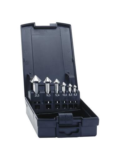 Kegelsenker-Set 6teilig 6.3 mm, 8.3 mm, 10.4 mm, 12.4 mm, 16.5 mm, 20.5 mm HSS-E Exact 50214 Zylinderschaft 1 Set