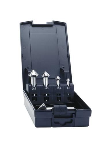Kegelsenker-Set 5teilig 6.3 mm, 10.4 mm, 16.5 mm, 20.5 mm, 25 mm HSS-E Exact 50215 Zylinderschaft 1 Set