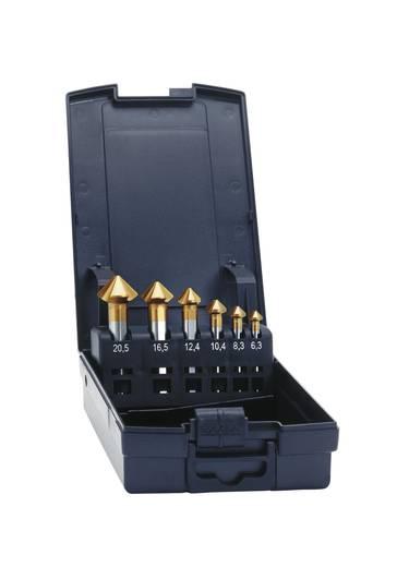 Kegelsenker-Set 6teilig 6.3 mm, 8.3 mm, 10.4 mm, 12.4 mm, 16.5 mm, 20.5 mm HSS TiN Exact 50232 Zylinderschaft 1 Set