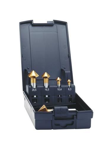 Kegelsenker-Set 5teilig 6.3 mm, 10.4 mm, 16.5 mm, 20.5 mm, 25 mm HSS TiN Exact 50233 Zylinderschaft 1 Set