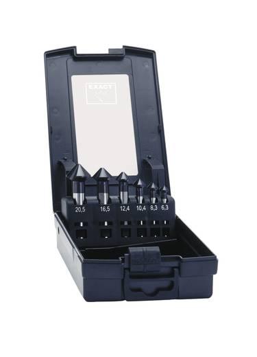 Kegelsenker-Set 6teilig 6.3 mm, 8.3 mm, 10.4 mm, 12.4 mm, 16.5 mm, 20.5 mm HSS TiAIN Exact 50252 Zylinderschaft 1 Set
