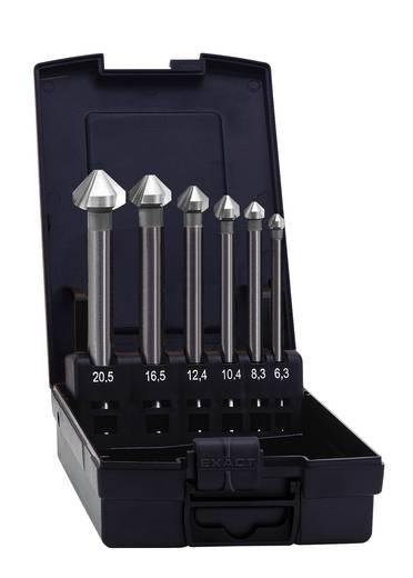 Kegelsenker-Set 6teilig 6.3 mm, 8.3 mm, 10.4 mm, 12.4 mm, 16.5 mm, 20.5 mm HSS Exact 50727 Zylinderschaft 1 Set