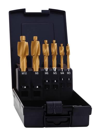Flachsenker 6teilig 2.5 mm, 3.3 mm, 4.2 mm, 5 mm, 6.8 mm, 8.5 mm HSS TiN Exact 50828 Zylinderschaft 1 Set