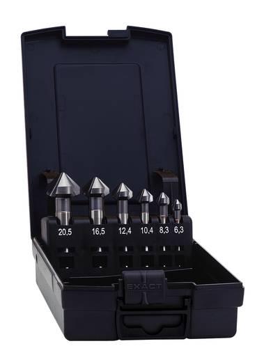 Kegelsenker-Set 6teilig 6.3 mm, 8.3 mm, 10.4 mm, 12.4 mm, 16.5 mm, 20.5 mm HSS TiCN Exact 51127 Zylinderschaft 1 Set