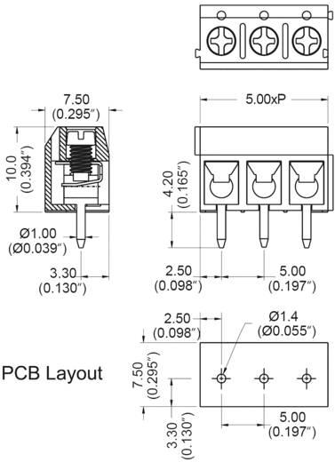 DECA MA412-500M03 Schraubklemmblock 1.50 mm² Polzahl 3 Blau 1 St.