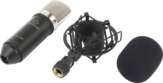 Studiomikrofon Renkforce AT-100 Übertragungsart:Kabelgebunden inkl. Windschutz, inkl Spinne