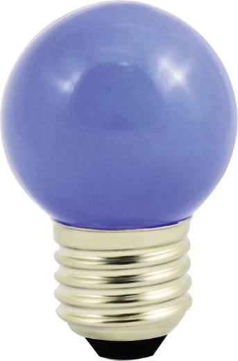 LightMe LED E27 Tropfenform 1 W Blau (Ø x L) 45 mm x 70 mm EEK: n.rel. 1 St.