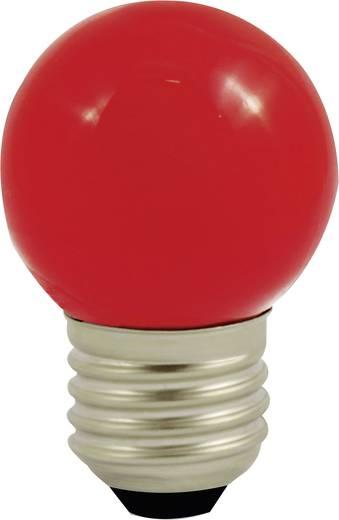 LightMe LED E27 Tropfenform 1 W Rot (Ø x L) 45 mm x 70 mm EEK: n.rel. 1 St.