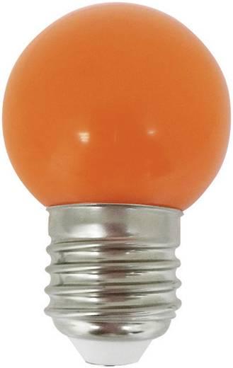 LightMe LED E27 Tropfenform 1 W Orange (Ø x L) 45 mm x 70 mm EEK: n.rel. 1 St.