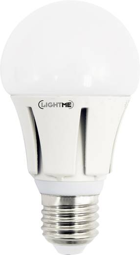 LightMe LED E27 Glühlampenform 10 W = 64 W Kaltweiß (Ø x L) 60 mm x 114 mm EEK: A+ 1 St.