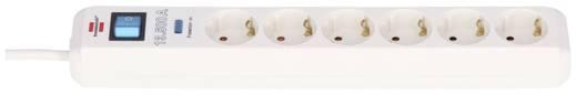 Überspannungsschutz-Steckdosenleiste 6fach Weiß Schutzkontakt Brennenstuhl 1159720216
